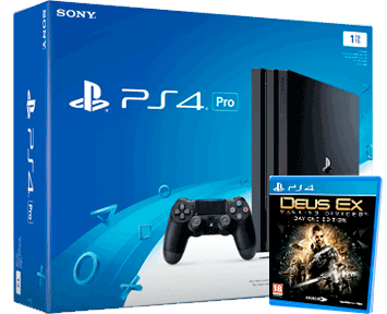 Sony PlayStation 4 PRO 1TB Black (CUH-7008B) + Deus Ex: Mankind Divided Day 1 Edition RUS