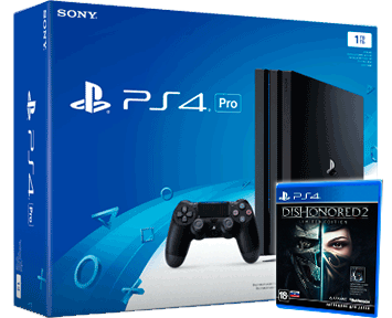 Sony PlayStation 4 PRO 1TB Black (CUH-7008B) + Dishonored 2 Limited Edition  RUS