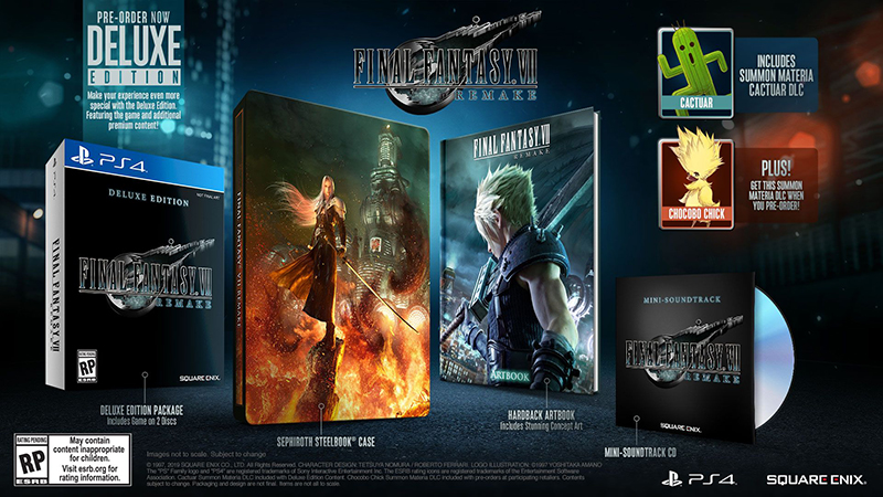 Final Fantasy VII Remake Deluxe Edition  PS4 дополнительное изображение 1