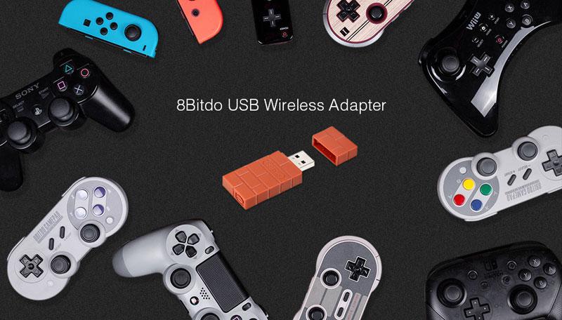 Адаптер 8BitDo Wireless USB Brick Brown дополнительное изображение 2