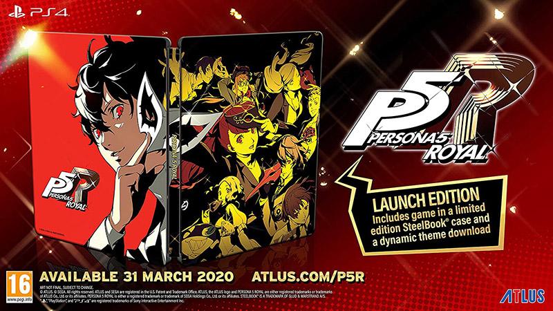 Persona 5 Royal Launch Steelbook Edition  PS4 дополнительное изображение 1