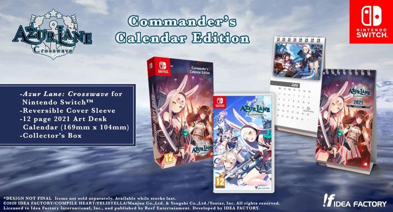 Azur Lane Crosswave Commander Calendar Edition  Nintendo Switch дополнительное изображение 1