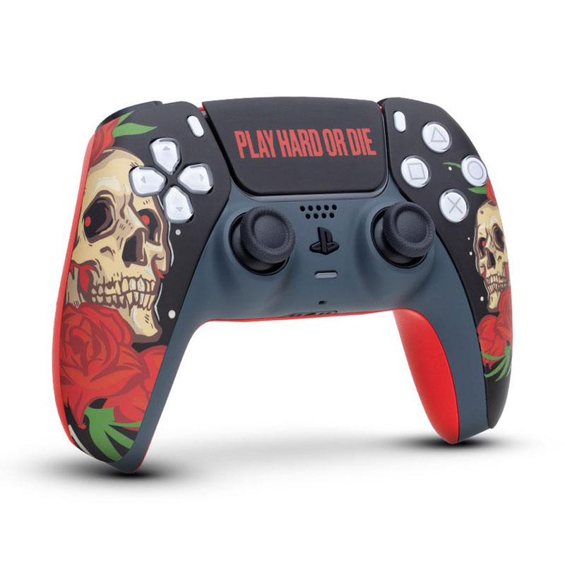 Кастомизированный беспроводной геймпад PS5 DualSense Play Hard Or Die дополнительное изображение 1