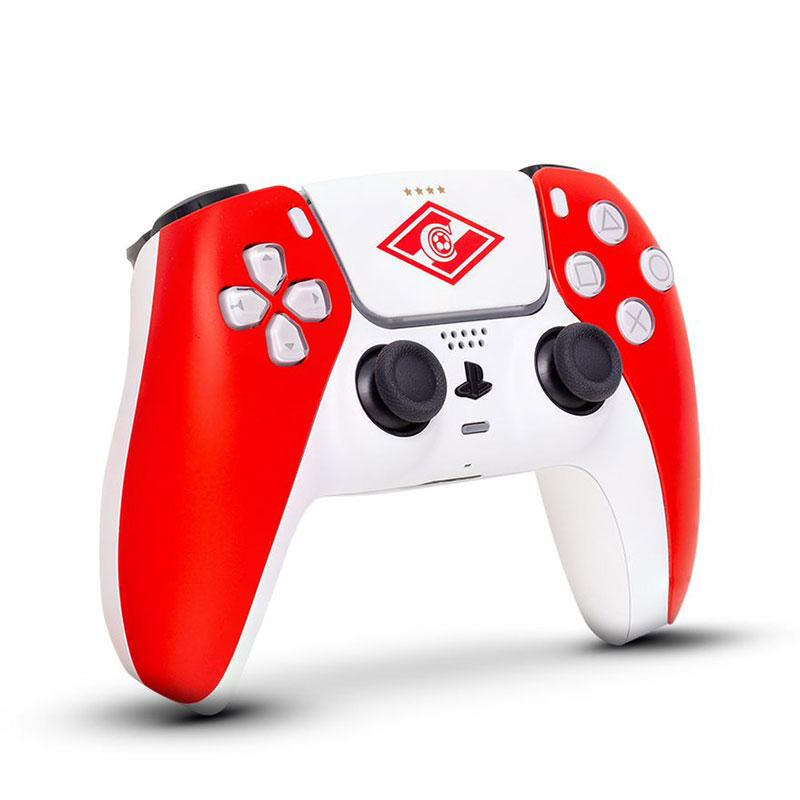Кастомизированный беспроводной геймпад PS5 DualSense Спартак Красно-Белый дополнительное изображение 1