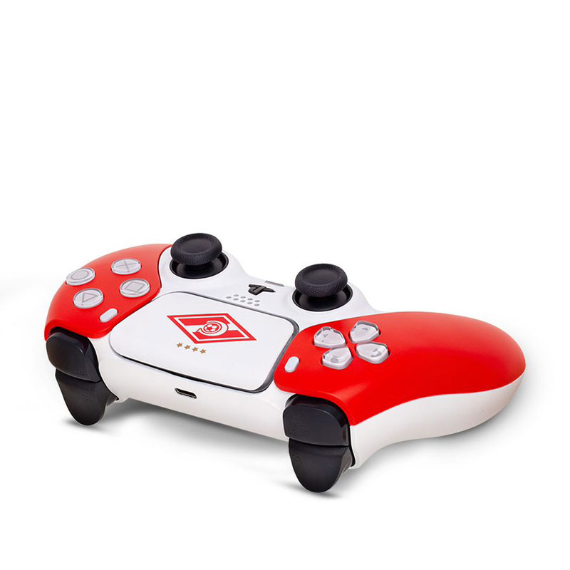 Кастомизированный беспроводной геймпад PS5 DualSense Спартак Красно-Белый дополнительное изображение 2