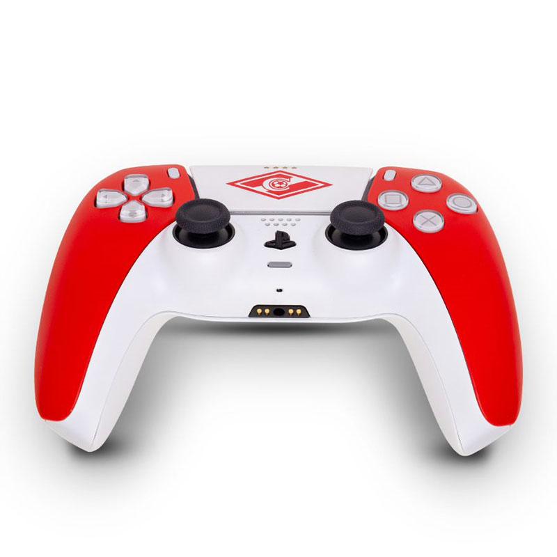 Кастомизированный беспроводной геймпад PS5 DualSense Спартак Красно-Белый дополнительное изображение 3