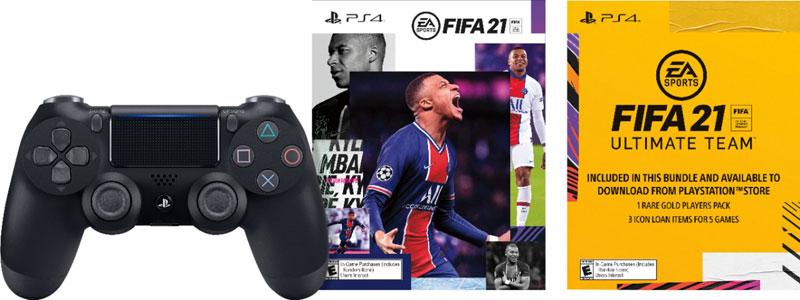 Беспроводной джойстик Sony DualShock 4 V2 Black  CUH-ZCT2E PS4+FIFA 21  дополнительное изображение 1