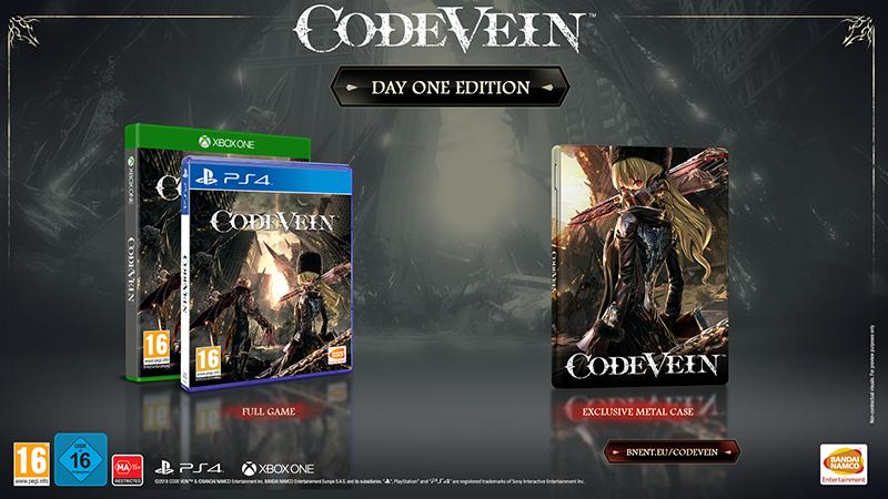 Code Vein Day One Steelbook Edition  Xbox One/Series X дополнительное изображение 1
