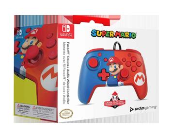 Проводной джойстик Nintendo Switch Faceoff Deluxe Mario