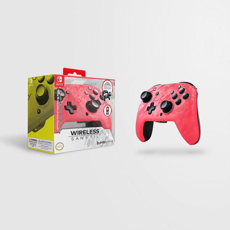 Беспроводной контроллер Faceoff Pink Camo  Nintendo Switch дополнительное изображение 1