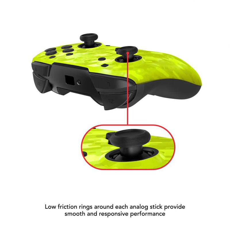 Беспроводной контроллер Faceoff Camo Yellow  Nintendo Switch дополнительное изображение 2