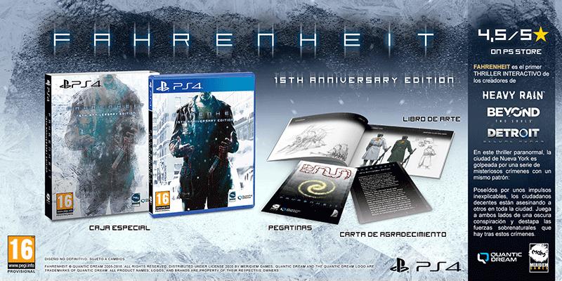 Fahrenheit 15th Anniversary Edition  PS4  дополнительное изображение 1