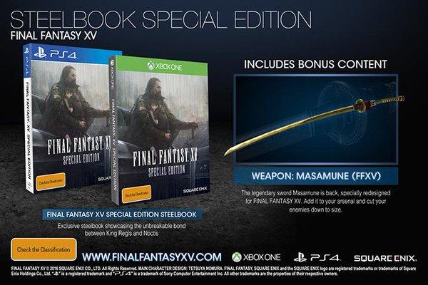 Final Fantasy XV Special Edition  PS4 дополнительное изображение 1
