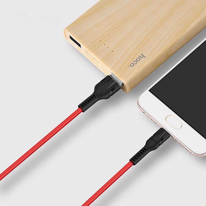Кабель USB Type-C HOCO U31 Red 3A дополнительное изображение 2