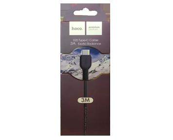 Кабель USB-Type C HOCO X20 Black 3м