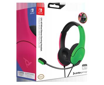 Проводные наушники PDP LVL40 Pink\Green (Nintendo Switch)