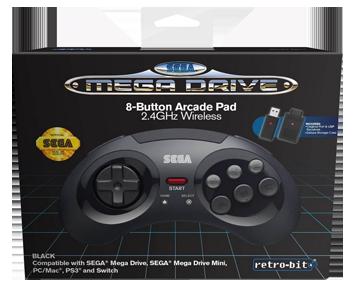 Контроллер беспроводной SEGA Mega Drive Arcade (PC/Mac, PS3, Mega Drive Mini, Nintendo Switch)