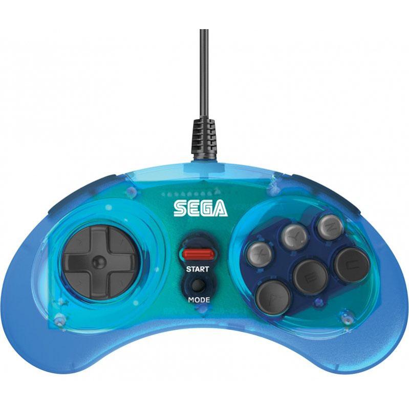 Контроллер SEGA Mega Drive Arcade Pad Blue USB  PC/Mac, Nintendo Switch дополнительное изображение 1