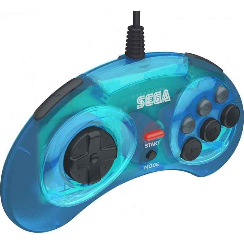 Контроллер SEGA Mega Drive Arcade Pad Blue USB  PC/Mac, Nintendo Switch дополнительное изображение 2