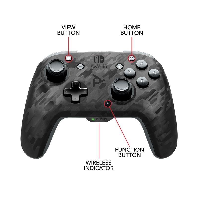 Беспроводной контроллер Faceoff Black Camo  Nintendo Switch  дополнительное изображение 3