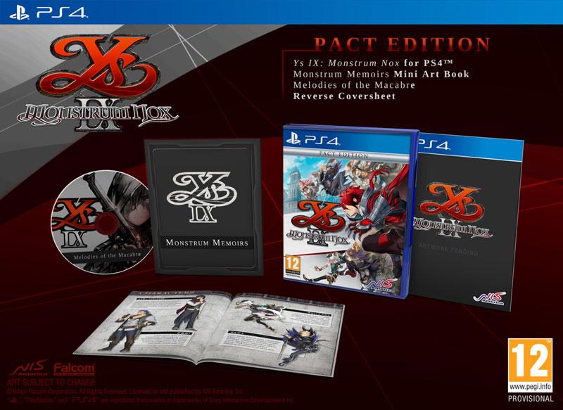 Ys IX Monstrum Nox Pact Edition  PS4 дополнительное изображение 1