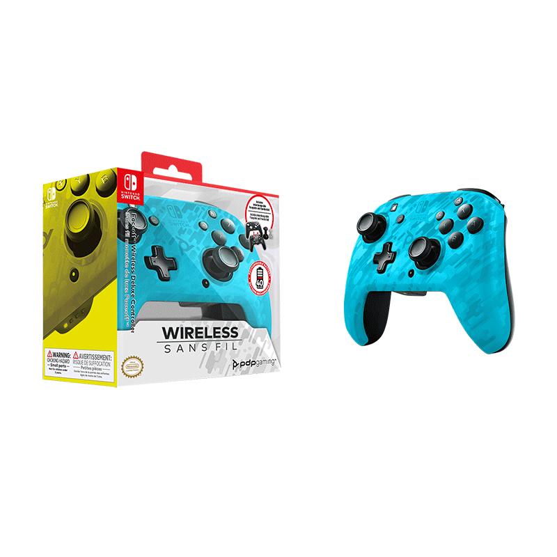 Беспроводной джойстик Faceoff Blue Camo  Nintendo Switch дополнительное изображение 1