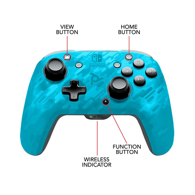 Беспроводной джойстик Faceoff Blue Camo  Nintendo Switch дополнительное изображение 2