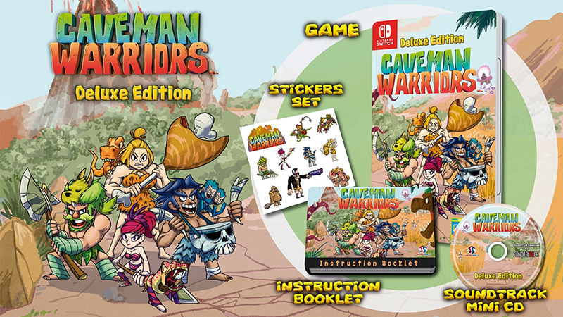 Caveman Warriors Deluxe Edition  Nintendo Switch дополнительное изображение 1