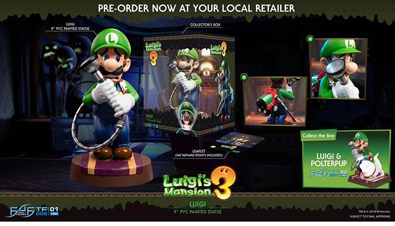 First 4 Figures Luigis Mansion 3 Luigi Statue дополнительное изображение 1