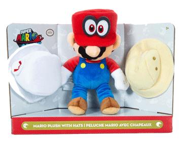 Мягкая игрушка Mario Марио с шляпами