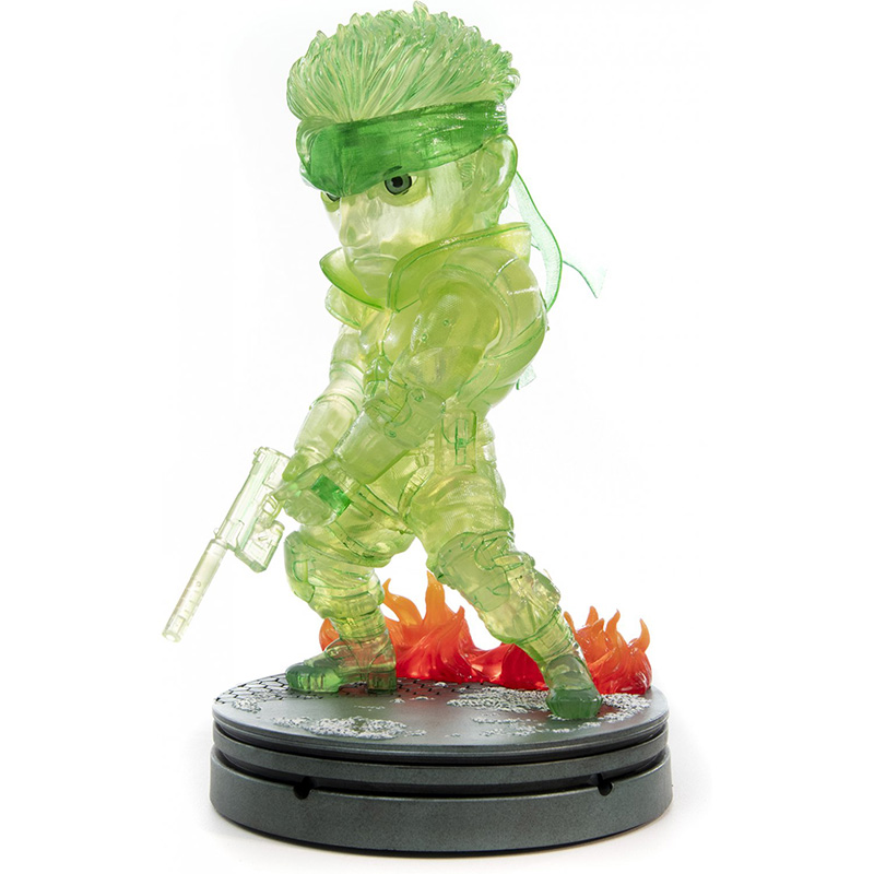 Metal Gear Solid - Solid Snake SD Statue 2  Neon Green Edition дополнительное изображение 3