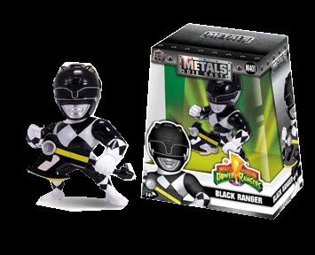 Фигурка металлическая Power Rangers: Black Ranger (10 см)