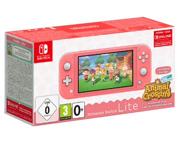 Nintendo Switch Lite (кораллово-розовый) + Animal Crossing: New Horizons + NSO 3 месяца ПРЕДЗАКА