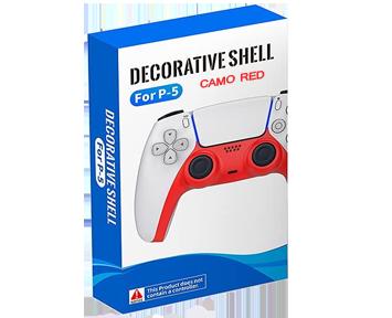 DualSense Decorative Shell Camo Red