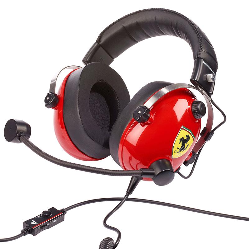 Гарнитура Thrustmaster T.RACING SCUDERIA FERRARI EDITION  PS4, Xbox One, Switch, PC дополнительное изображение 3