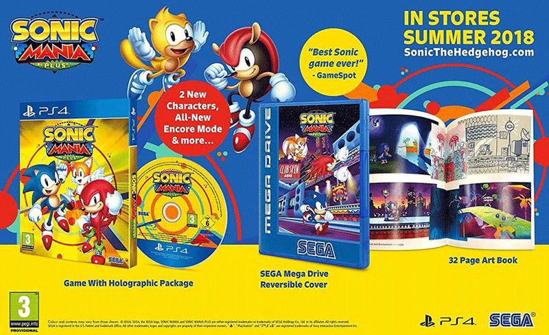 Sonic Mania Plus и Artbook  PS4 дополнительное изображение 1
