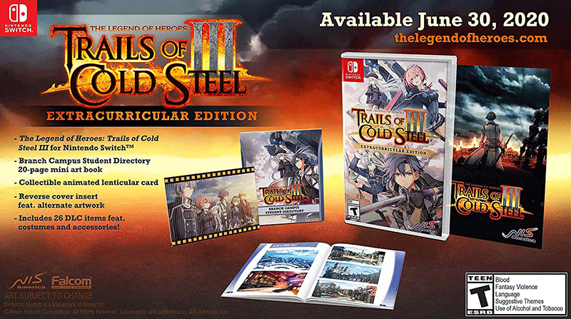 Legend of Heroes Trails of Cold Steel III Extracurricular Edition US Nintendo Switch дополнительное изображение 1